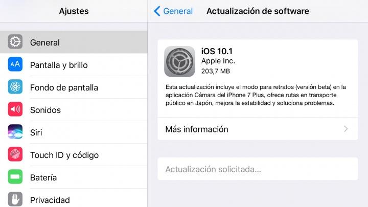 Imagen - iOS 10.1 llega oficialmente con correcciones de errores y novedades