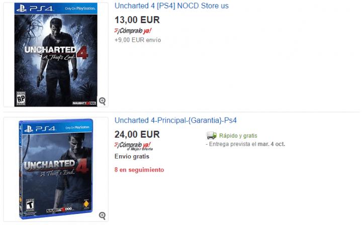 Imagen - Cómo comprar juegos de PlayStation 4 baratos en eBay