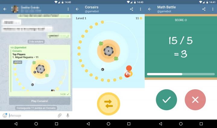 Imagen - Telegram ya incluye juegos