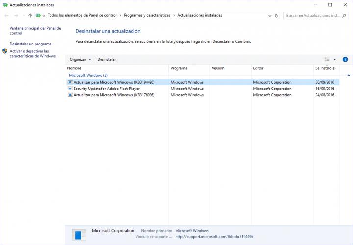 Imagen - La actualización KB3194496 para Windows 10 no se instala correctamente