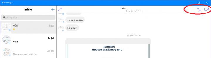 Imagen - Facebook Messenger para Windows 10 ya permite hacer llamadas y videollamadas