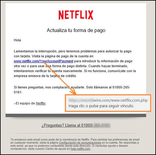 Imagen - Cuidado con el falso correo de Netflix