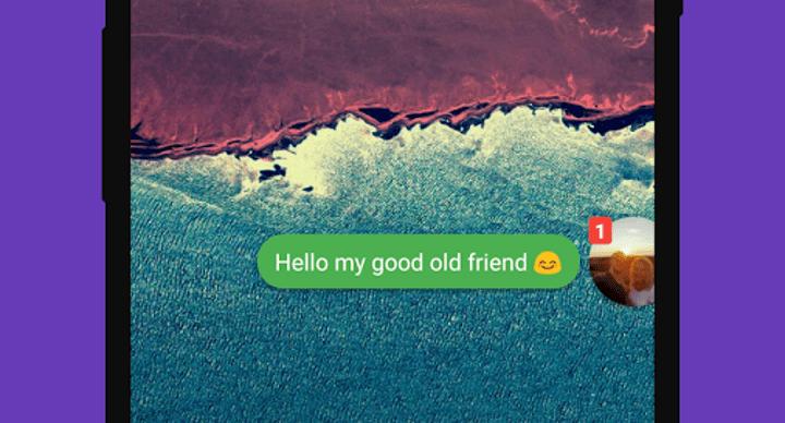 Cómo recibir notificaciones de WhatsApp en forma de burbuja