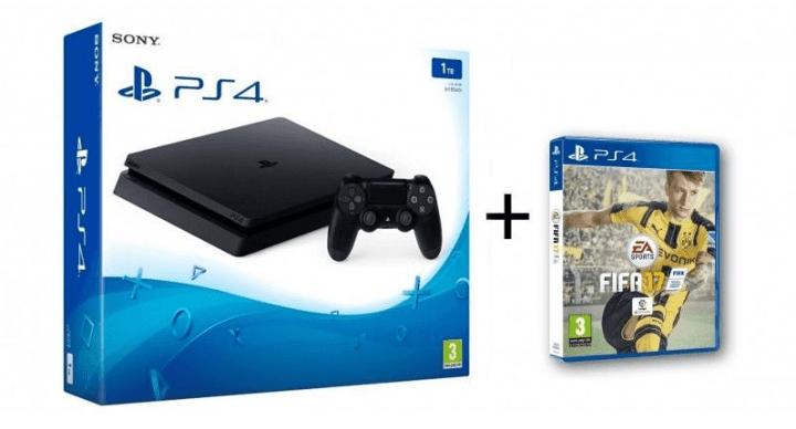 Oferta: PlayStation 4 Slim 1 TB con FIFA 17 por 294 euros