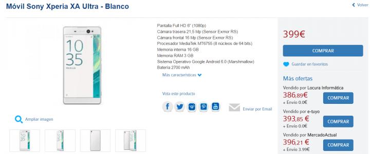 Imagen - Dónde comprar el Sony Xperia XA Ultra