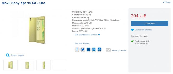 Imagen - 7 tiendas dónde comprar el Sony Xperia XA