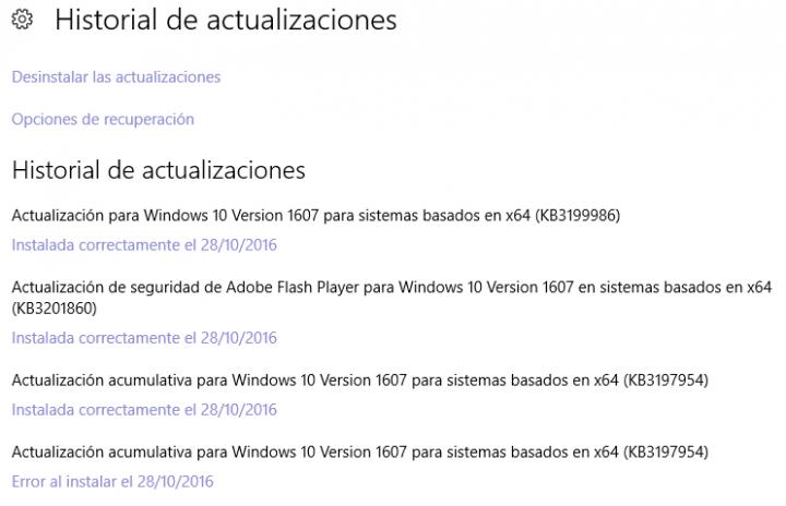 Imagen - La actualización KB3197954 para Windows 10 no se instala correctamente