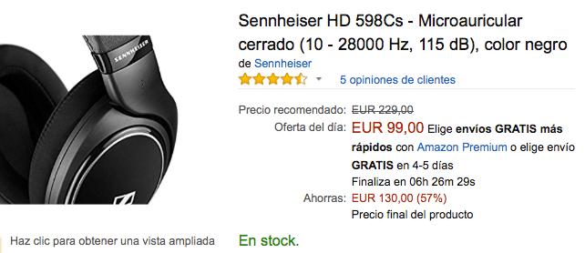 Imagen - Oferta: Sennheiser HD 598 por 99 euros en Black Friday