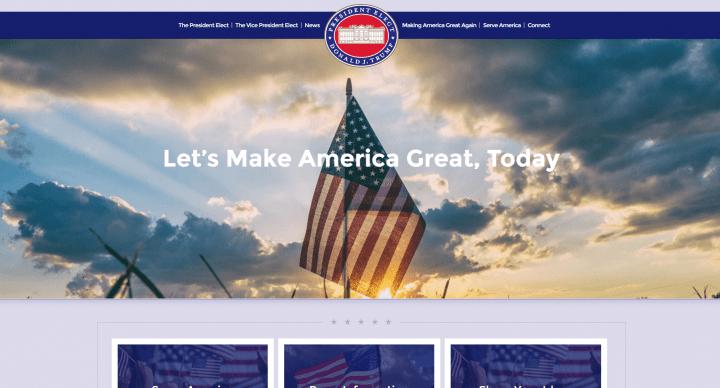 Imagen - Donald Trump ya tiene web oficial como presidente