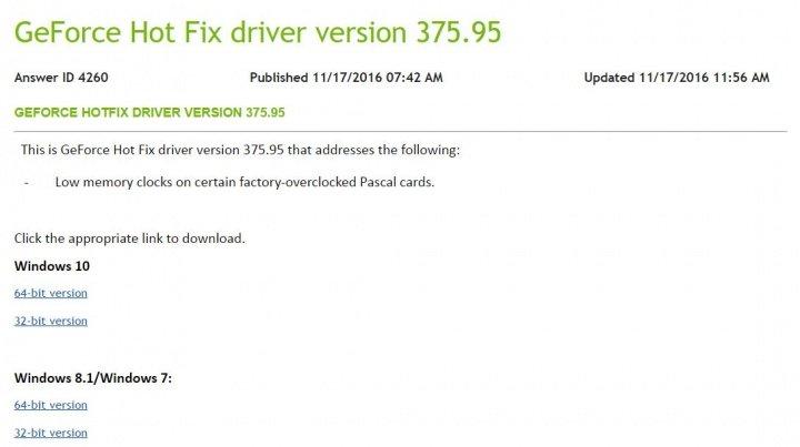 Imagen - Descarga los drivers Nvidia GeForce 375.95 Hotfix