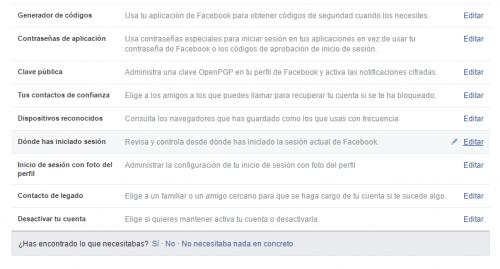 Imagen - Cómo cerrar sesión en Facebook desde otro ordenador
