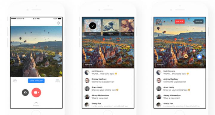 Imagen - Facebook Live añade los filtros de Prisma a sus vídeos en directo