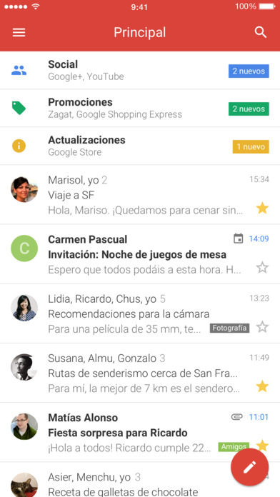 Imagen - Gmail para iOS se renueva completamente