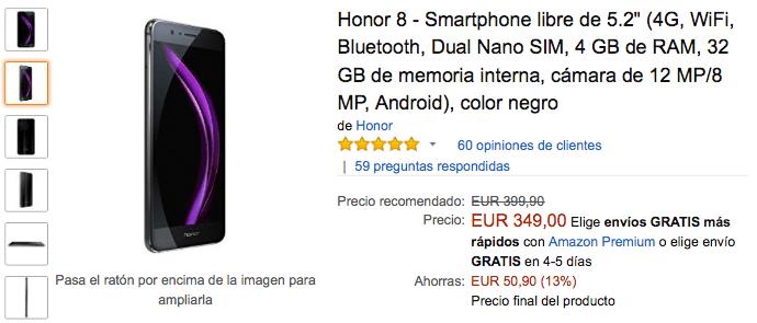 Imagen - Oferta: Honor 8, un gran móvil por 349 euros en el Black Friday