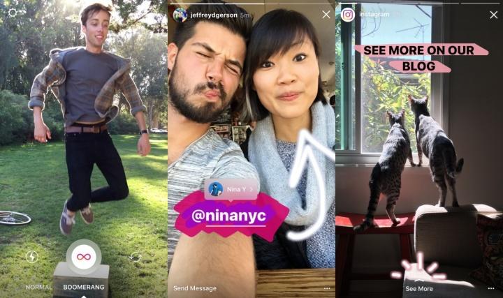 Imagen - Instagram Stories añade Boomerang, menciones y enlaces