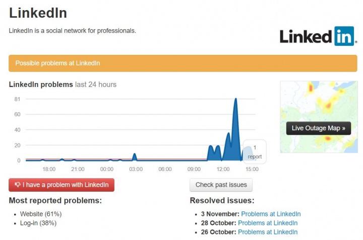 Imagen - LinkedIn está sufriendo problemas de funcionamiento