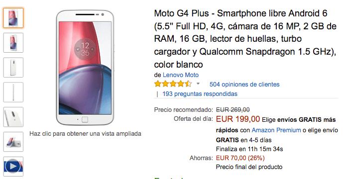 Imagen - Oferta: Moto G4 Plus por solo 199 euros en el Black Friday