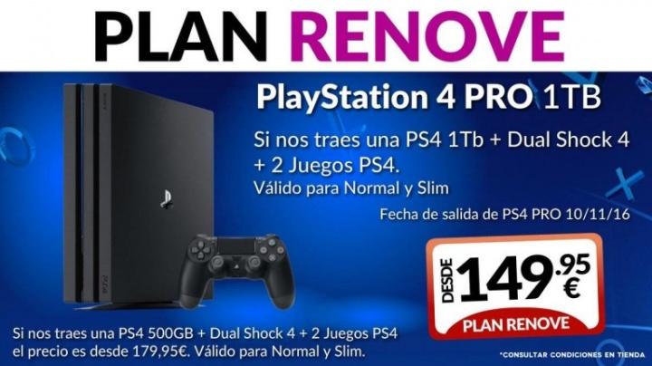 Imagen - Detalles del Plan Renove de PlayStation 4 Pro en Game