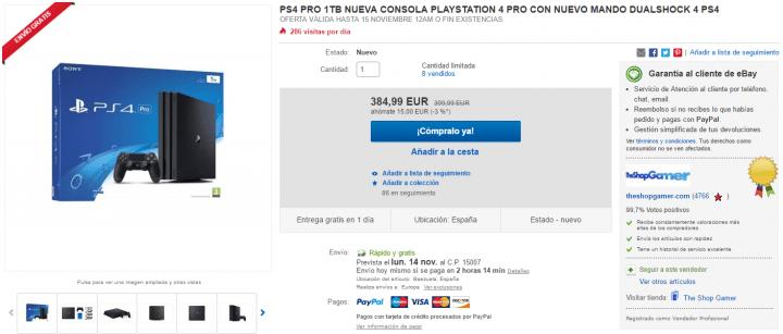 Imagen - Oferta: la nueva PlayStation 4 Pro al precio más bajo del momento