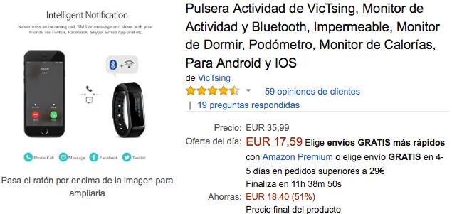 Imagen - Oferta: Pulsera de actividad por 17 euros en Cyber Monday