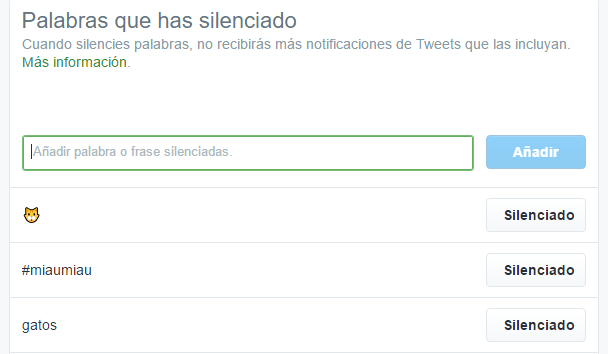 Imagen - Twitter ya permite silenciar palabras