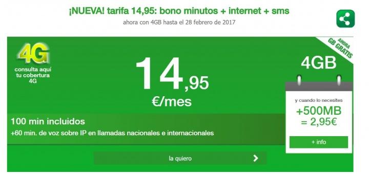 Imagen - Amena ofrece 4 GB y 100 minutos por 14,95 euros