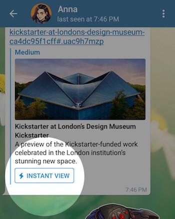 Imagen - Telegram 3.14 viene con enlaces Instant View y otras grandes novedades