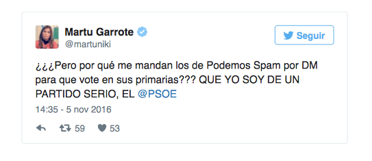 Imagen - Los usuarios de Twitter reciben spam de Podemos