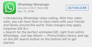 Imagen - ¿Por qué no tengo las vídeollamadas en WhatsApp?