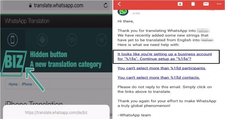 Imagen - WhatsApp lanzaría una nueva app llamada BIZ