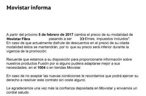 Imagen - Movistar Fibra 50 MB subirá de precio en febrero