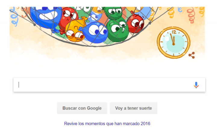 Imagen - Google nos felicita la Nochevieja con un nuevo Doodle