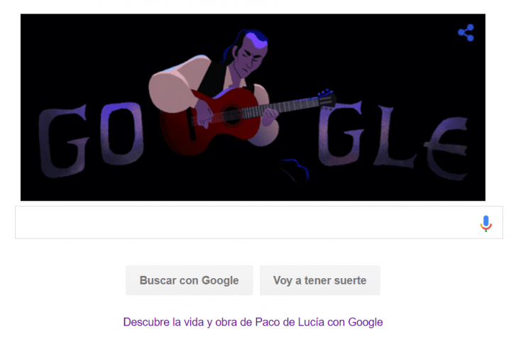 Imagen - Google dedica un Doodle a Paco de Lucía