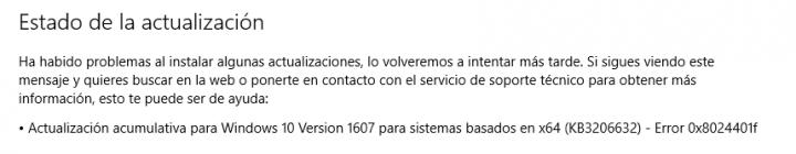Imagen - La actualización KB3206632 para Windows 10 tiene problemas para instalarse correctamente