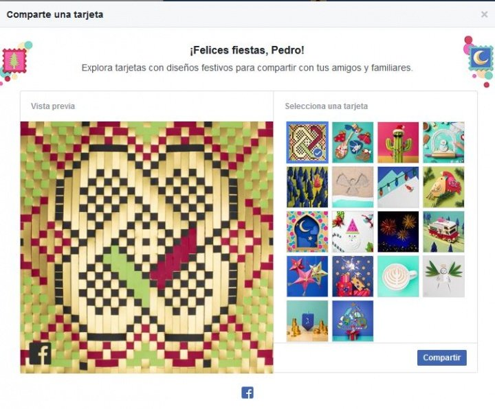 imagen crea tu tarjeta de felicitacin de navidad en facebook