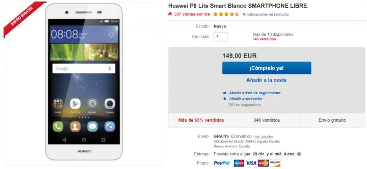Imagen - Oferta: Huawei P8 Lite por 149 euros