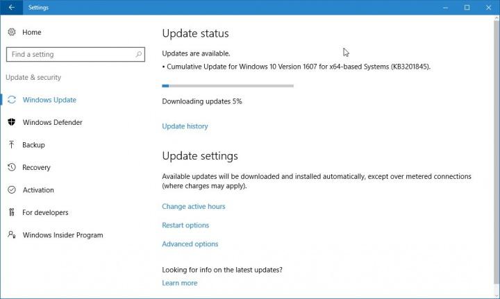 Imagen - La actualización KB3201845 para Windows 10 falla al instalarse