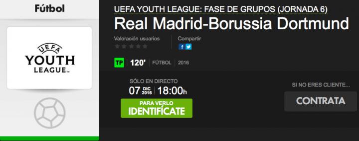 Imagen - Cómo ver online el Real Madrid vs Borussia Dortmund