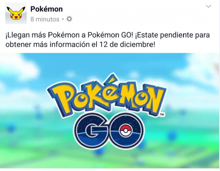 Imagen - Pokémon Go recibirá nuevos pokémons a partir del 12 de diciembre