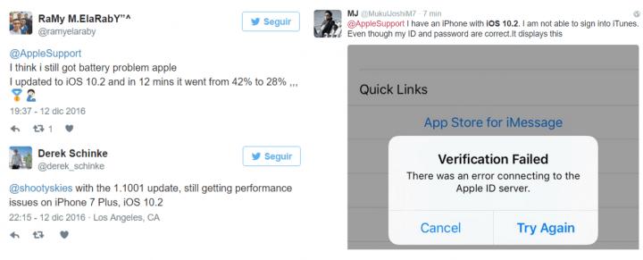 Imagen - Aparecen los primeros errores en iOS 10.2