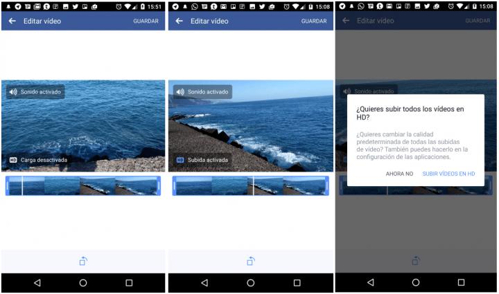 Imagen - Facebook en Android ya permite subir vídeos en calidad HD