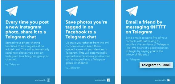 Imagen - Telegram ya permite anclar chats y se integra con IFTTT