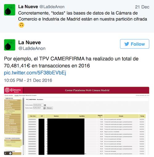 Imagen - Anonymous hackea la Cámara de Comercio de Madrid