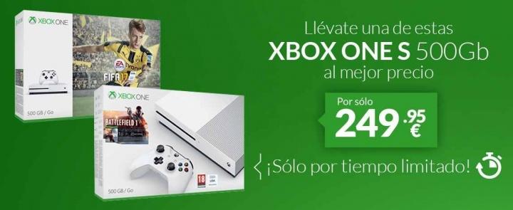 Imagen - Oferta: Xbox One S 500 GB + juego por tan solo 249,95 euros