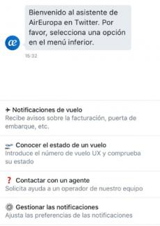 Imagen - Air Europa presta un servicio de interacción con el cliente en Twitter