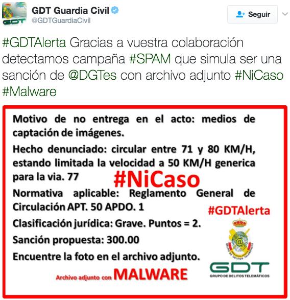 Imagen - Cuidado con la falsa sanción de la DGT que adjunta malware