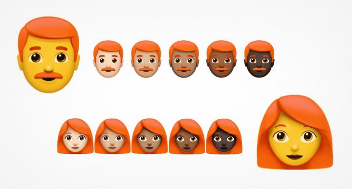 Los emojis de pelirrojos están en camino