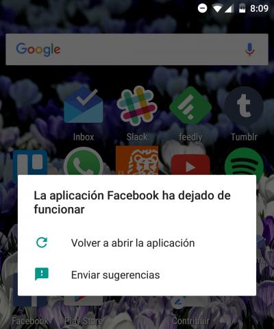 Imagen - Solución: Facebook para Android se cierra y bloquea tras su última actualización