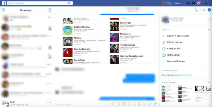 Imagen - Facebook cambiará la interfaz web de Messenger