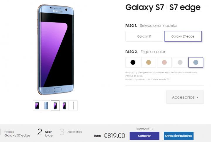 Imagen - Samsung Galaxy S7 Edge en color azul coral llega a España